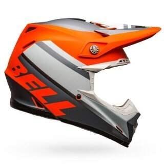 Шлем Bell Moto-9 Mips Prophecy Matte Orange-black-gray - M