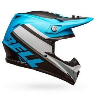 Шлем Bell Moto-9 Mips Prophecy Matte White-black-blue - S