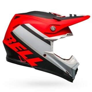 Шлем Bell Moto-9 Mips Prophecy Matte White-Red-Black - S