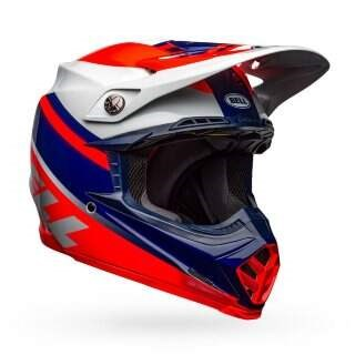 Шлем Bell MOTO-9 MIPS PROPHECY GLOSS INFRARED/NAVY/GRAY - S