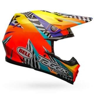 Шлем Bell Moto-9 Mips Tagger Breakout Gloss Orange-yellow - S