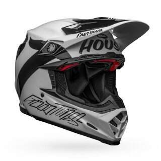 Шлем Bell MOTO-9 FLEX FASTHOUSE NEWHALL GLOSS WHT/BLK - L