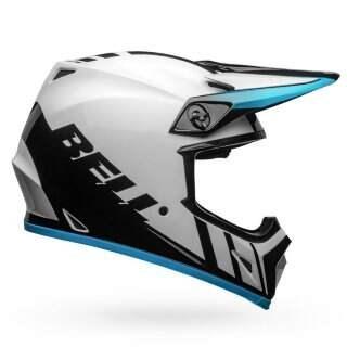 Шлем Bell MX-9 Mips Dash Gloss White-blue - XL