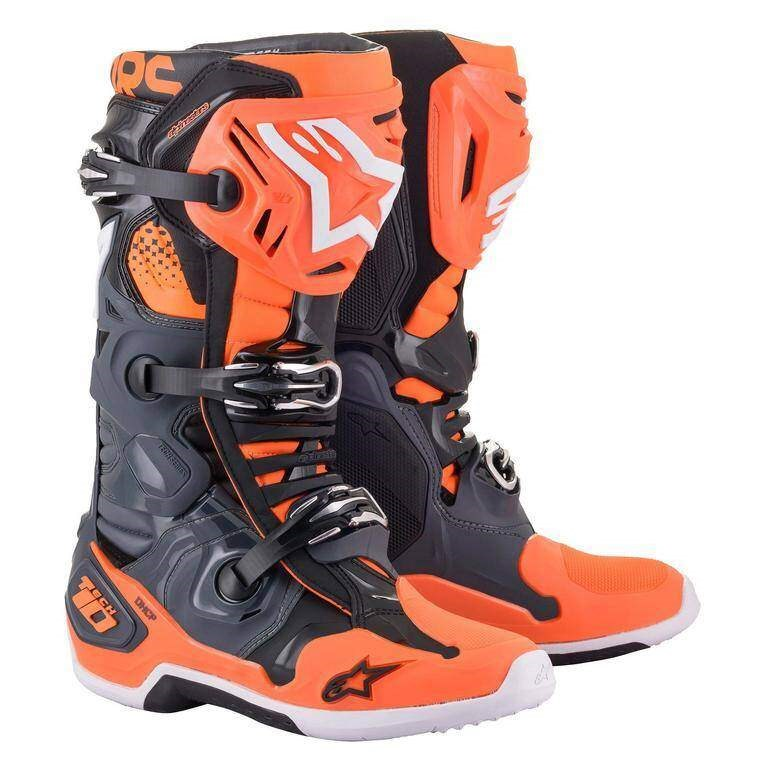 Мотоботы Alpinestars Tech 10 (оранжево-черные)