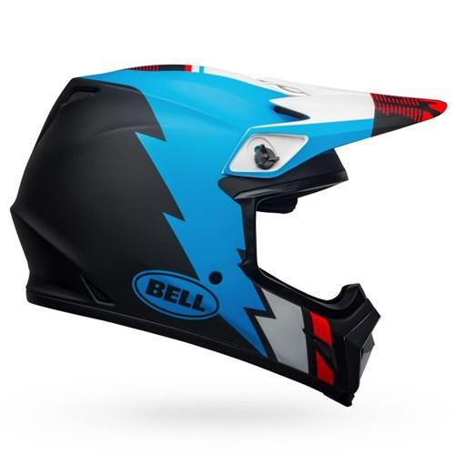 Шлем BELL MX-9 MIPS STRIKE MATTE BLACK/BLUE/WHITE - фото 6000