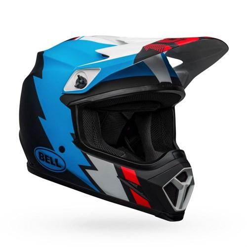 Шлем BELL MX-9 MIPS STRIKE MATTE BLACK/BLUE/WHITE - фото 6001