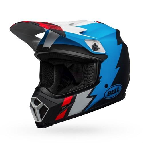 Шлем BELL MX-9 MIPS STRIKE MATTE BLACK/BLUE/WHITE - фото 6003