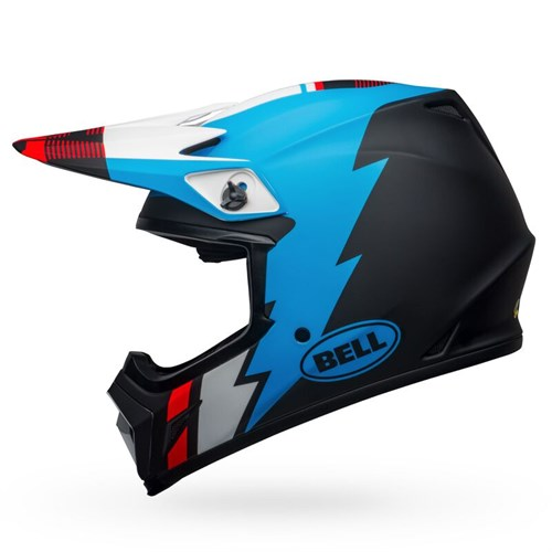 Шлем BELL MX-9 MIPS STRIKE MATTE BLACK/BLUE/WHITE - фото 6004