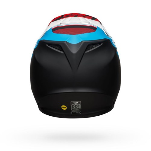 Шлем BELL MX-9 MIPS STRIKE MATTE BLACK/BLUE/WHITE - фото 6006