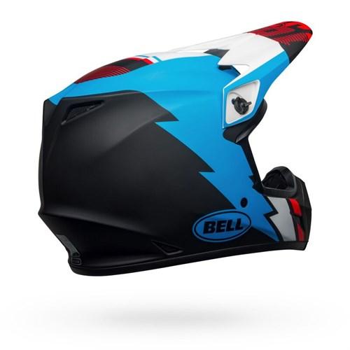 Шлем BELL MX-9 MIPS STRIKE MATTE BLACK/BLUE/WHITE - фото 6007