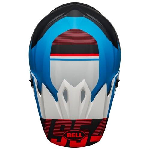 Шлем BELL MX-9 MIPS STRIKE MATTE BLACK/BLUE/WHITE - фото 6008